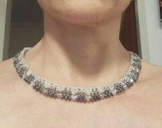 #collier #twin #beads Twin Beads, Diamond, Jewelry, Jewelery, Jewellery Making, Jewlery, Jewels, Diamonds, Jewerly