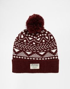 Jack & Jones Pat Fairisle Beanie Hat