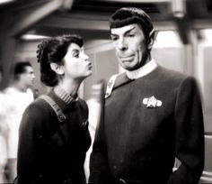 Kirstie Alley & Leonard Nimoy ~ Vulcans Saavik & Spock ~ Star Trek II behind the scenes