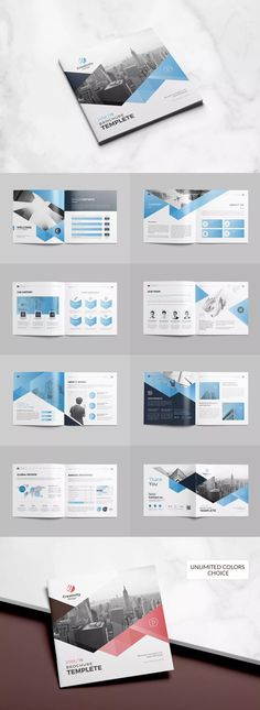 Brochure – Square by Creativity-Design on – Invitation 2020 Booklet Design Layout, Company Profile Design Templates, Company Brochure Design, Pamphlet Design, Page Layout Design, Graphic Design Brochure, Corporate Brochure Design, Web Design, Brochure Design Inspiration