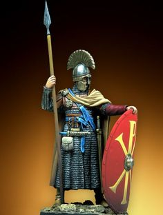 54 mm - Byzantine Infantry Official - VI Century A. Medieval Art, Medieval Fantasy, Medieval Knight, Ancient Rome, Ancient History, Byzantine Army, Early Middle Ages, Roman Soldiers, Roman History
