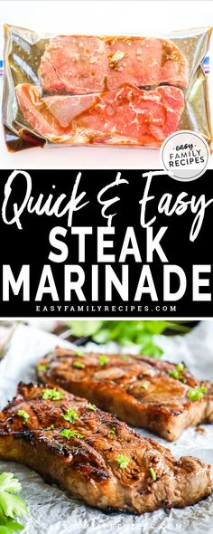 BEST STEAK EVER! Quick and Easy Hawaiian Steak Marinade. This marinade is the perfect combo of sweet and savory flavors. It works well for sirloin steak, strip steak, and even rib eye. Perfect steak marinade recipe for grilling! Steak Marinade For Grilling, Steak Marinade Recipes, Marinated Steak, How To Grill Steak, Grilling Recipes, Meat Recipes, Grilled Steaks, Hawaiian Steak Marinade Recipe, Best Ribeye Steak Marinade