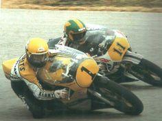 Kenny Roberts (Yamaha) & Virginio Ferrari (Suzuki)