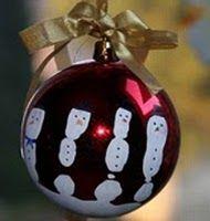 Five Fingers Snowman Ornament