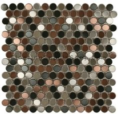 Penny Round Black Lip Mother Of Pearl Mosaic Tiles