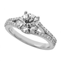 SPLIT SHANK WITH DIAMOND GALLERY. Center Stone Not Included. $2,479.00 Weight Side Stones: 0.45 Color: F Clarity: VS