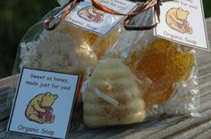 Honey Bee Theme Organic Honey and Oatmeal by lavenderrosegifts