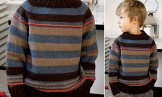 Se strikkeopskriften her. Knitting For Kids, Alter, Baby Kids, Men Sweater, Pullover, Children, Sweaters, Patterns, Fashion