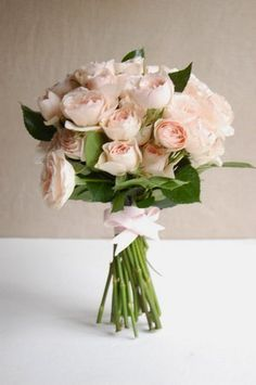 DIY: A Garden Rose Bouquet - Project Wedding. 24 stems of spray roses=$12 + ribbon!