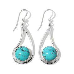 Jay King Iron Mountain Turquoise Drop Earrings