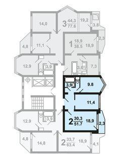 Продажа 2-комнатной квартиры в ЖК «Некрасовка» корп.11 эт.3 №67 в Москва, ЮВАО по ценам застройщика