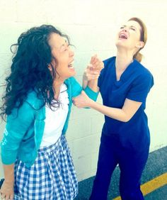 Sandra Oh Leaving Grey's Anatomy? Only If Sarah Drew Unhands Her! (PHOTOS)