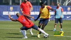 برشلونة يبدأ تدريباته استعدادا لليجانيس