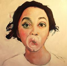 Portrait - painting by Ruth Shively