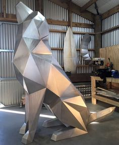 GoodBoy – Ben Foster Studio work in progress – bigart Metal Art Sculpture, Steel Sculpture, Metal Projects, Metal Crafts, Metal Animal, 3d Metal, Geometric Mountain, Steel Art, Iron Art