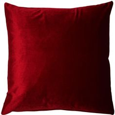 The Corona Red Velvet Throw Pillow looks and feels like it should be furnishing a Sultan's palace. This inch pillow is a red velvet classic that will add year round elegance or festive and seasonal warmth to your home. Size: 16 x Pattern: Solid Color.