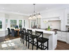revamped kitchen in colonial house