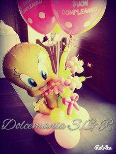 #dolcemania #palloncini #puglia #sangiovannirotondo #balloons #balloon #foggia #gargano #italia #tweety #titti #manfredonia #balloonart