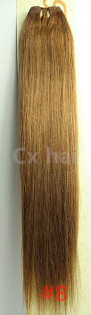 """34.00$  Buy here - http://ai4ct.worlditems.win/all/product.php?id=32404291116 - """"#8 chestnut brown 16""""""""18""""""""20""""""""22""""""""24""""""""26""""""""28""""""""30""""""""32"""""""" silk soft remy brazilian  human hair extensions human hair weft weaving  100g/pcs"""""""