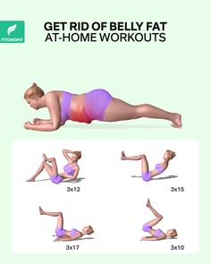 GET RID OF BELLY FAT AT HOME WEIGHT LOSS exercises come in many forms. To burn that belly fat, give it a try by completing these workouts. It will help you burn calories and get stronger muscles. Easy Workouts, At Home Workouts, Monthly Workouts, Yoga Bewegungen, Sixpack Training, Yoga Kurse, Yoga Posen, Flexibility Workout, Belly Fat Workout