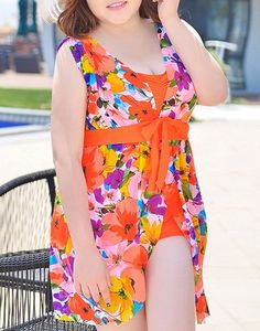 $19.61 Fashionable Plus Size Floral Print One Piece Swimwear For Women