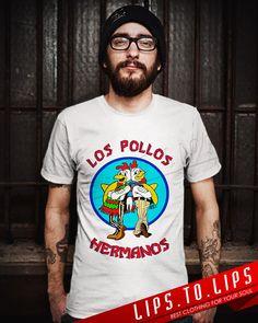 LOS POLLOS HERMANOS Breaking Bad Men TShirt  by LIPSTOLIPS on Etsy, $18.99