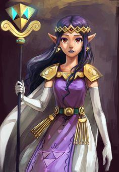Les Loriens qui sont un peuple vivant en miroir par rapport aux personnages de Hyrule. Lorule est une dimension parallèle de Hyrule possédant ses propres donjons et son château de Lorule, avec son Link de Lorule et sa princesse Hilda.