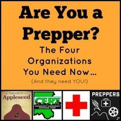 Trying to figure out the next step to take? Looking for a new activity? Read today's new blog post - The Four Organizations Preppers Need Now http://thesurvivalmom.com/four-organizations-preppers-need-now/?utm_campaign=coschedule&utm_source=pinterest&utm_medium=The%20Survival%20Mom%20(Family%20Survival%20and%20Preparedness)&utm_content=The%20Four%20Organizations%20Preppers%20Need%20Now