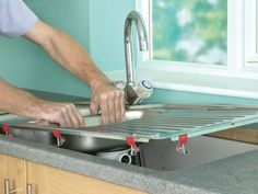 Install an Apron-Front Sink in a Butcher-Block Countertop Blocked Kitchen Sink, Ikea Kitchen Sink, Kitchen Sink Countertop, Best Kitchen Sinks, Butcher Block Countertops, Diy Kitchen, Cool Kitchens, Small Kitchens, Country Kitchen Renovation