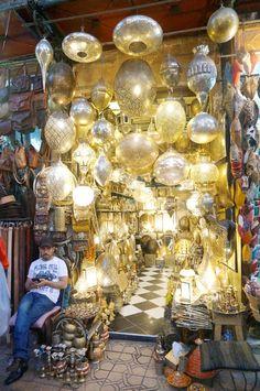 Marrakech, Morocco, the souk market