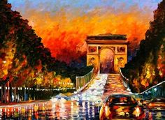 Collect Leonid Afremov paintings of Paris. favorite city and favorite artist