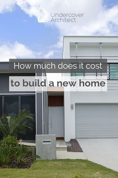 How much will it cost to build a new home? Here's where to start. Outdoor Living Areas, Outdoor Rooms, Outdoor Showers, Cost To Build, Storey Homes, Building Companies, Display Homes, Building A New Home, Brickwork