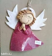 Afbeeldingsresultaat voor z gliny anioły Christmas Clay, Christmas Makes, Christmas Angels, Christmas Ornaments, Angel Crafts, Xmas Crafts, Diy And Crafts, Ceramics Projects, Clay Projects