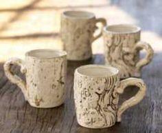 Faux bois mugs