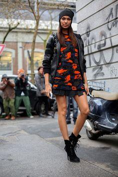 Street style Milan Fashion Week #mfw14 #models