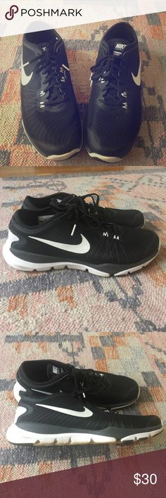 Nike Training Flex Supreme TR4 Trendy Black and White Nike sneaker to wear from cross training to the mall. Worn once. Nike Shoes Athletic Shoes