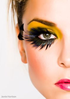 Amarelo e preto #maquiagem #makeup #Carnaval