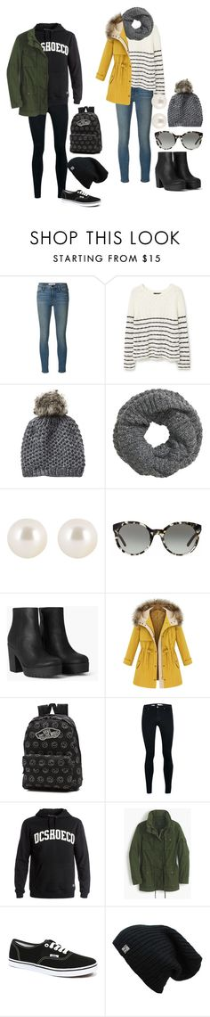 """Unbenannt #1155"" by strawberryfelton on Polyvore featuring Mode, Frame Denim, MANGO, Vincent Pradier, H&M, Henri Bendel, Tory Burch, Vans, Topman und DC Shoes"