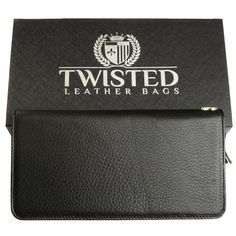 'Smooth' Black Leather Clutch – Twisted Leather Bags