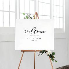 This welcome sign template is ready to be downloaded, edited and printed…perfect for a savvy, style-conscious bride or groom. Purchase this listing to INSTANTLY download your template(s) and get started straight away! . . . . . . . . . . . . . . . . . . . . . . . . . . . . . . . . . . .
