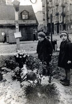Polish children attending a funeral, Warsaw 1939 (Courtesy of The Polish Institute & Sikorski Museum - London)