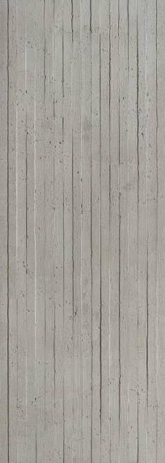 Panneau mural en béton - Lames bois verticales