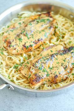 Pin for Later: 25 Recipes That Combine 2 of the Greatest Foods Ever, Chicken and Pasta Chicken Lazone Get the recipe: chicken lazone