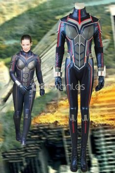 Marvel Ant-Man and the Wasp Trailer Wasp Hope Van Dyne Cosplay Costume with Boots Wasp Costumes, Cosplay Costumes, Cosplay Ideas, Costume Ideas, Super Hero Outfits, Super Hero Costumes, Evangeline Lilly Wasp, Marvel Halloween Costumes, Tracer Cosplay