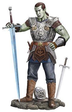 Half Orc Dude by dashinvaine.deviantart.com on @deviantART