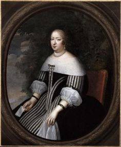 Anne of Austria, Queen of France and mother of Louis XIV - by Charles Beaubrun, mid-17th century, Versailles