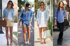 Look do Dia: Camisa Jeans Feminina ⋆ Blog Charmosa Divina * O Melhor Blog de Moda, Dicas de Beleza!