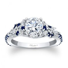 Barkev's Engagement Ring With Blue Sapphires 7932LBSW