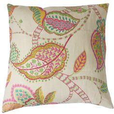 Mazatl Linen Throw Pillow