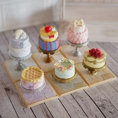 Miniature Disney themed cakes